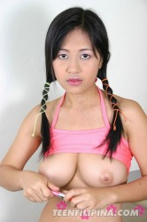 Big breasts small Asian girl