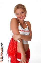 Pornstar Christine Cheerleader Striptease