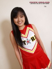 Asian Cheerleader in white panty