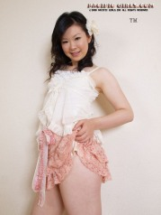 Sexual asian secretary in white panty