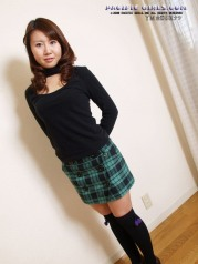 Red panty asian girl in short skirt