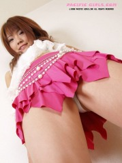 Asian girl in short mini skirt