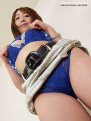 Blue panty asian girl