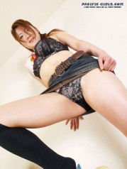 Japan girl in black panty