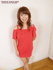 Red dress asian Girl Photo Set