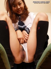 Schoolgirl white panty asian Girl Photo Set