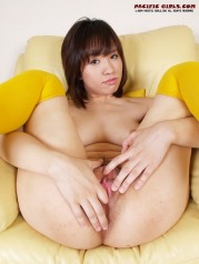 Fat ass asian show vagina