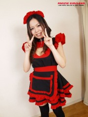 Colorfull asian cosplay girl show pussy