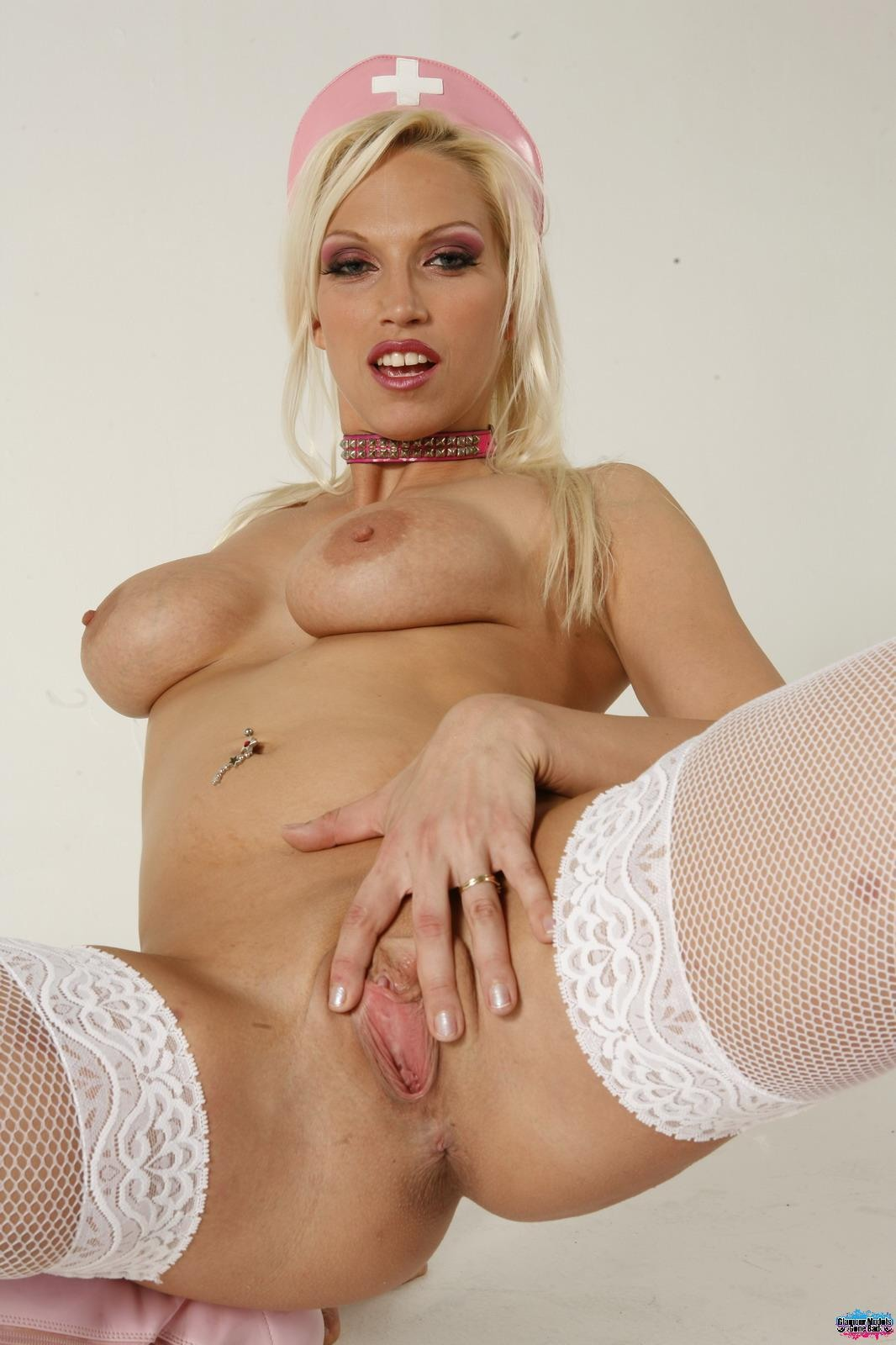 A blond sexy nurse