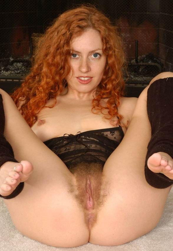Casually beauty hairy red head