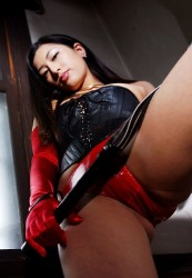 Naughty Asian Model In Black And Red