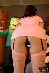 Pink Mini Skirt And nice ass
