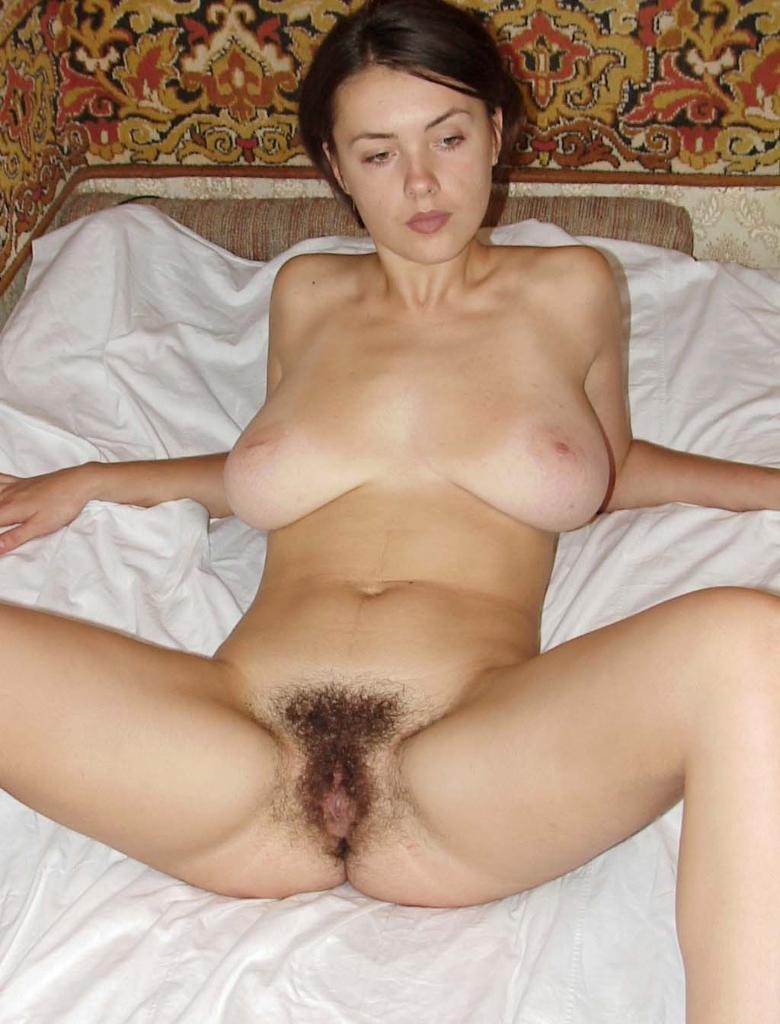Russian girls big tits hairy pussy