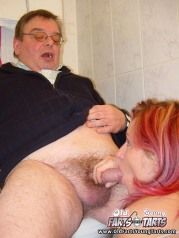 Dirty old man fuck girl in toilet