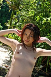 Lusty Japanese Girl Kyoko Strips Swimsuit And Shows Curvy Ass