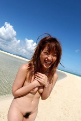 Petite Japanese Girl Asuka Strips Swimsuit And Poses Naked