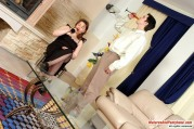 Felicia & Adam Pantyhosefucking Lustful Mature Chick