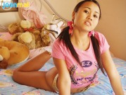 See Asian Teen Joon Mali Pussy Through Small White Panties