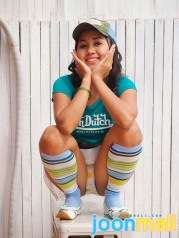 Teen Cutie Joon Mali In Trucker Cap And Denim Jean Skirt
