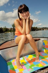This Skinny Brunette Gets Naughty On Boat