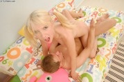 Pretty Teen girl Playing With man
