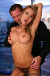 Blonde Milf Christina Sucking Off Fat Wang Before