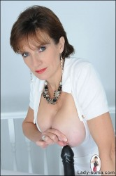 British Mature With Deep Cleavage