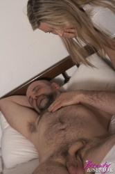 Senior Fucking His Sexy Willing Maid Hardcore In Bed