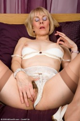 Hazel Pulls Her Panties Aside To Display Full