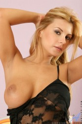 Pierced Pussied Blonde Anilos Cougar Masturbates With An Extremel