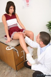 Cheer Sucks And Fucks Her Doctor Licking Up Cum