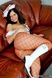 Dressed up Cortney amazes with her nurse uniform