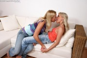 Tempting Blondes Undress And Finger