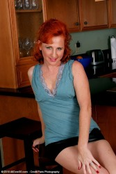 All Natural Red Headed Milf Shows Off Her Sexy Feet