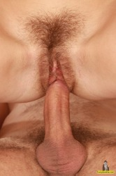 Hairy Anastasia Is Not Afraid To Take On Two Studs