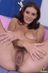 Hairy Big Titted Babe Anita Shaves Her Massive Beaver