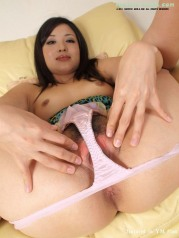 Japan woman in white panty show pink pussy
