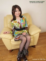 Japanese girl in black stockings