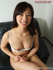 White panty fat ass asian girl in short skirt