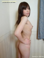 Asian in white panty show fat ass