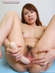 Asian shows pink pussy