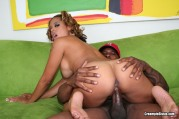 Sexy Black Girl Gets Oiled Up Then Fucked And Creamed Here