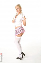 Sexy schoolgirl with pigtail