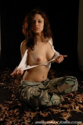 Sologirl Alex Jolie In F Military Uniform Posing