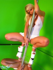 Ann Angel The Stripper With Glass Dildo
