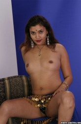 Brunette Indian Babe Showing Off Sucking