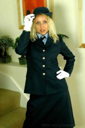 Shameless stewardess striptease shows