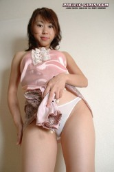 Beautiful asian girl spreads pink vagina